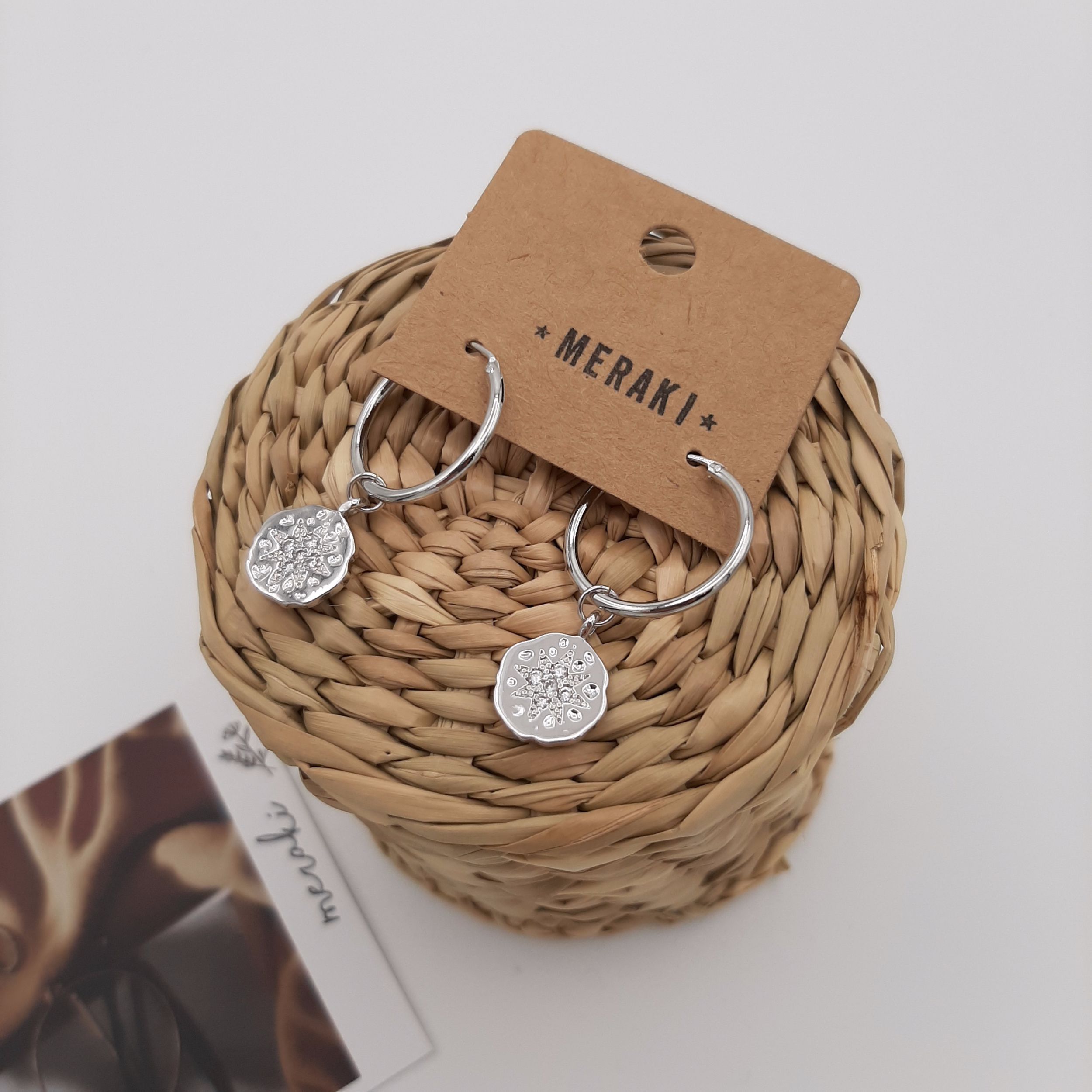 Hoops - Flocon Strass silver