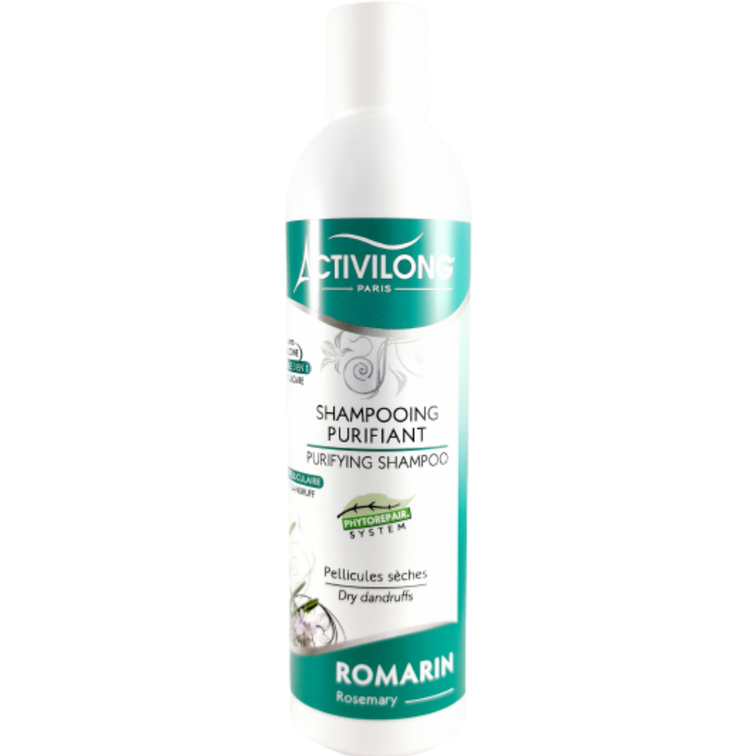 Shampoing romarin. Apaise démangeaisons et élimine les pellicules sèches- ACTIVILONG