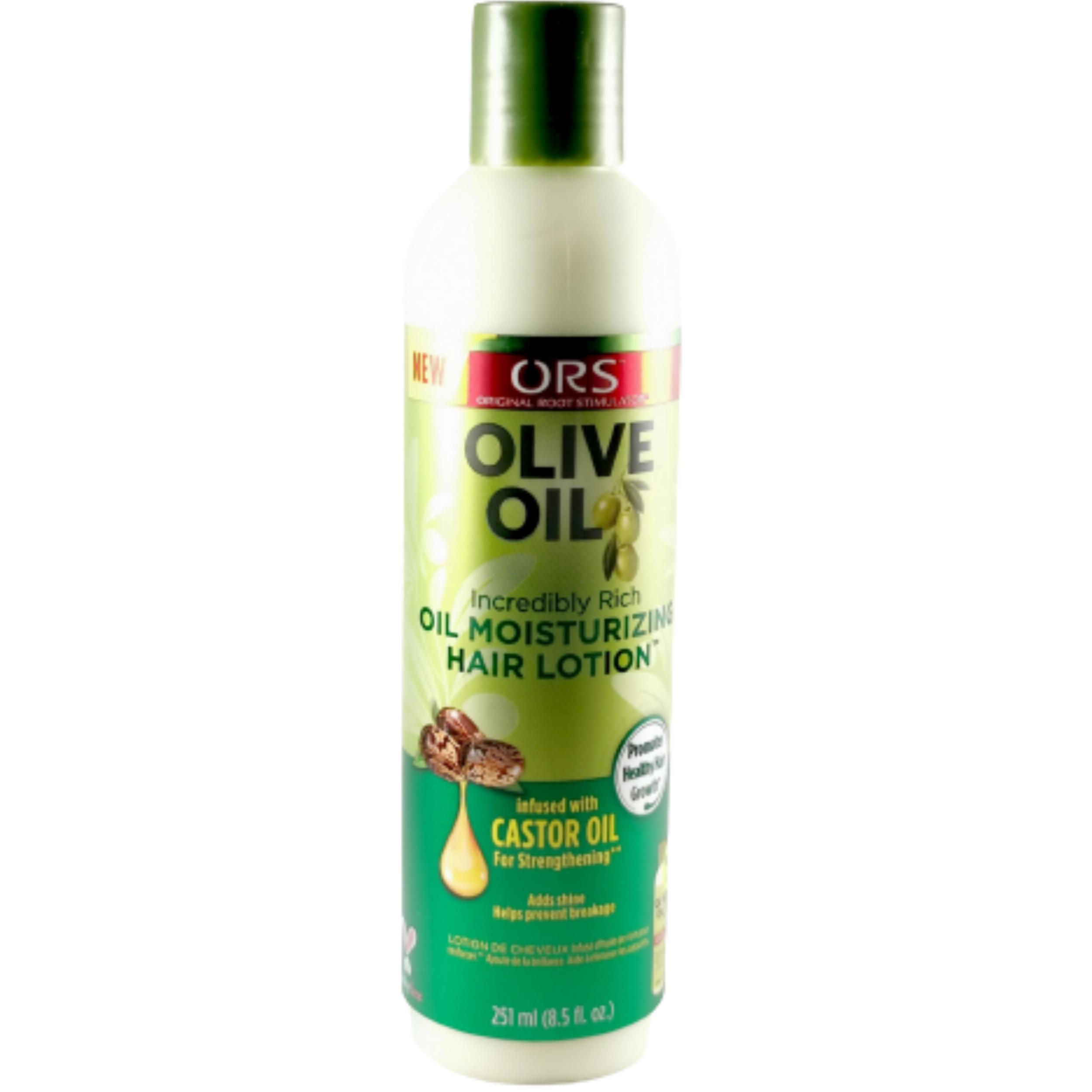 Lotion coiffante olive-ricin. Restaure l'équilibre d'hydratation et stimule la croissance - ORS