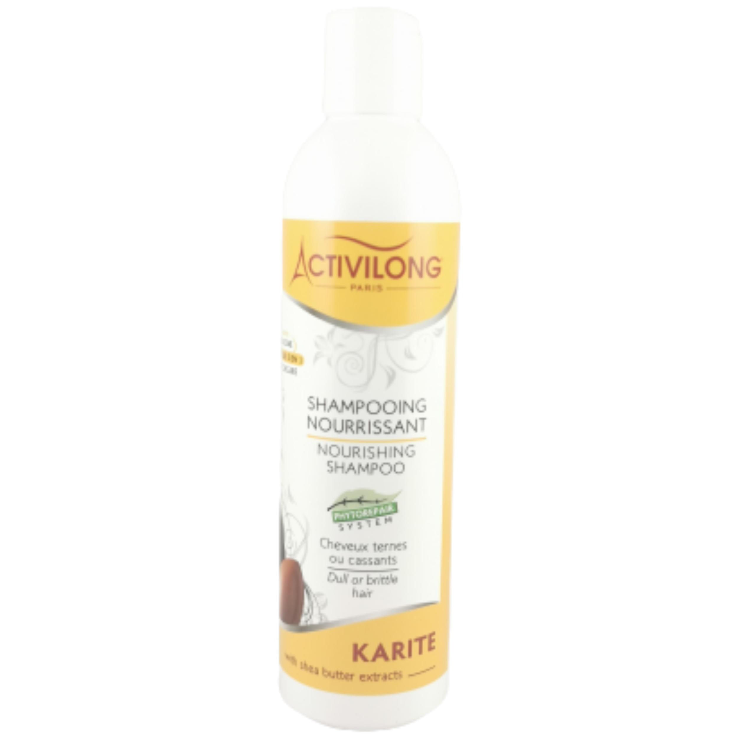 Shampooing karité. Nourrit le cheveu et restaure les longueurs ternes et cassantes - ACTIVILONG