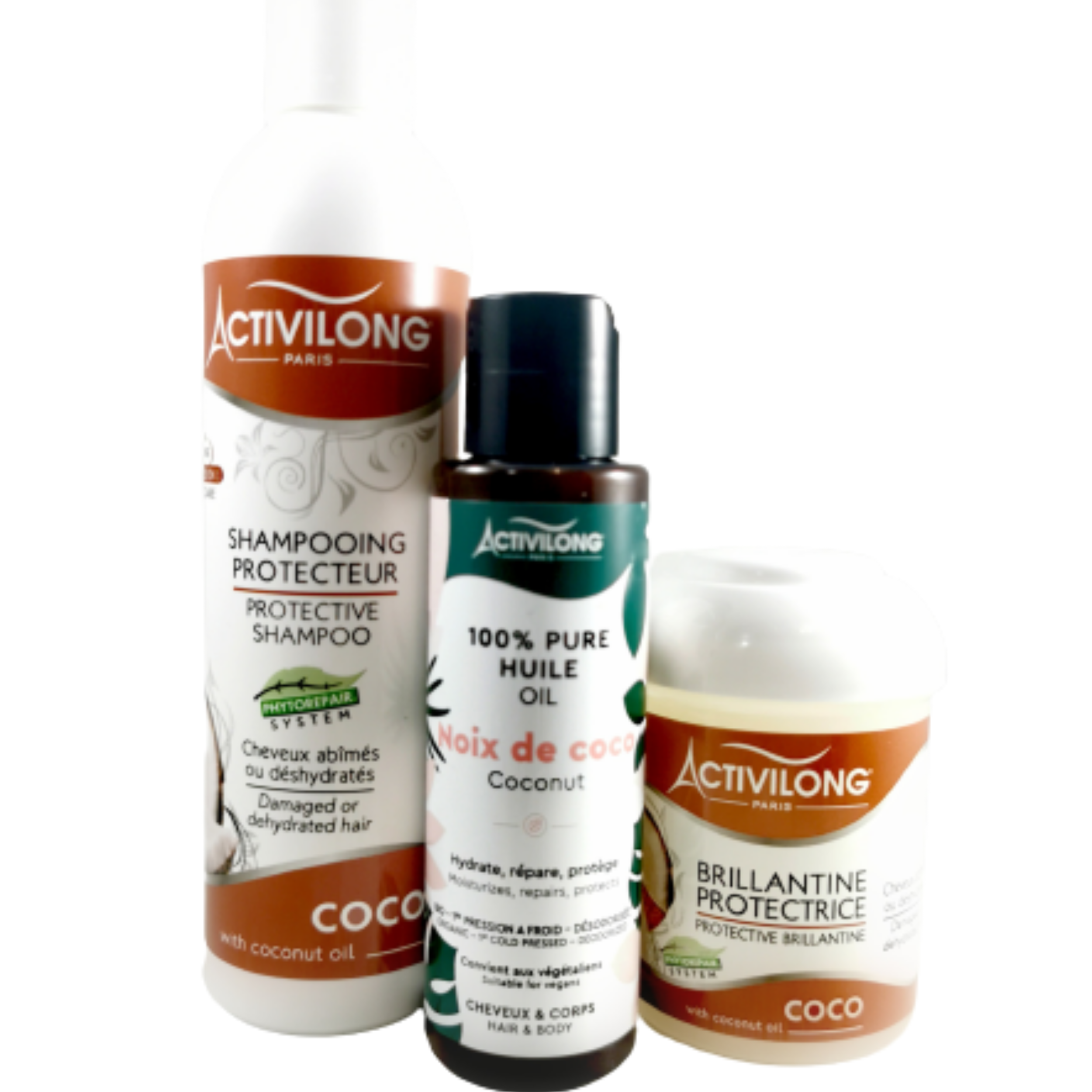 Box Hydratation à base de coco. Hydrate en profondeur et protège contre la casse - ACTIVILONG