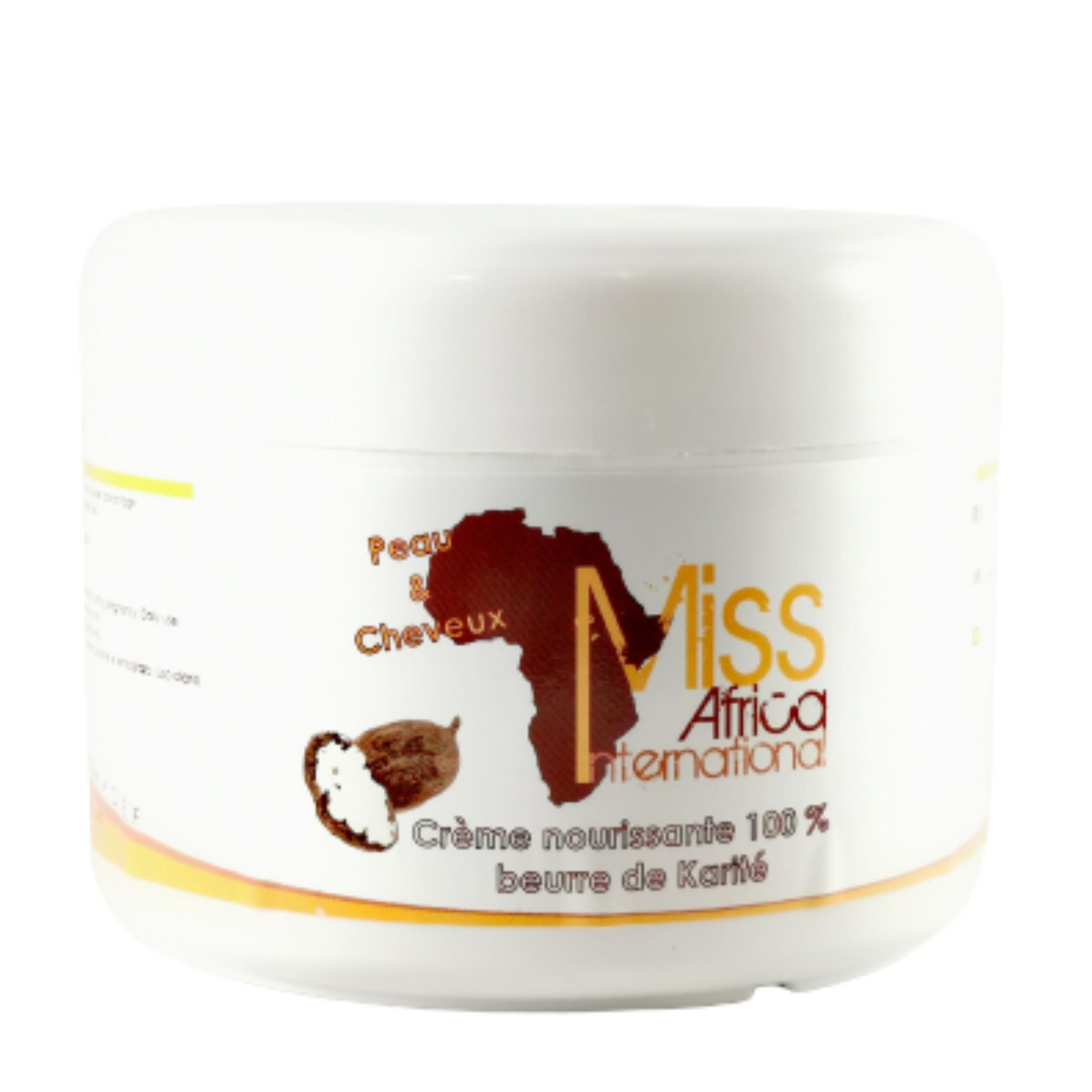 Beurre de karité brut. Épiderme plus frais et vos cheveux une santé de fer - MISS AFRICA