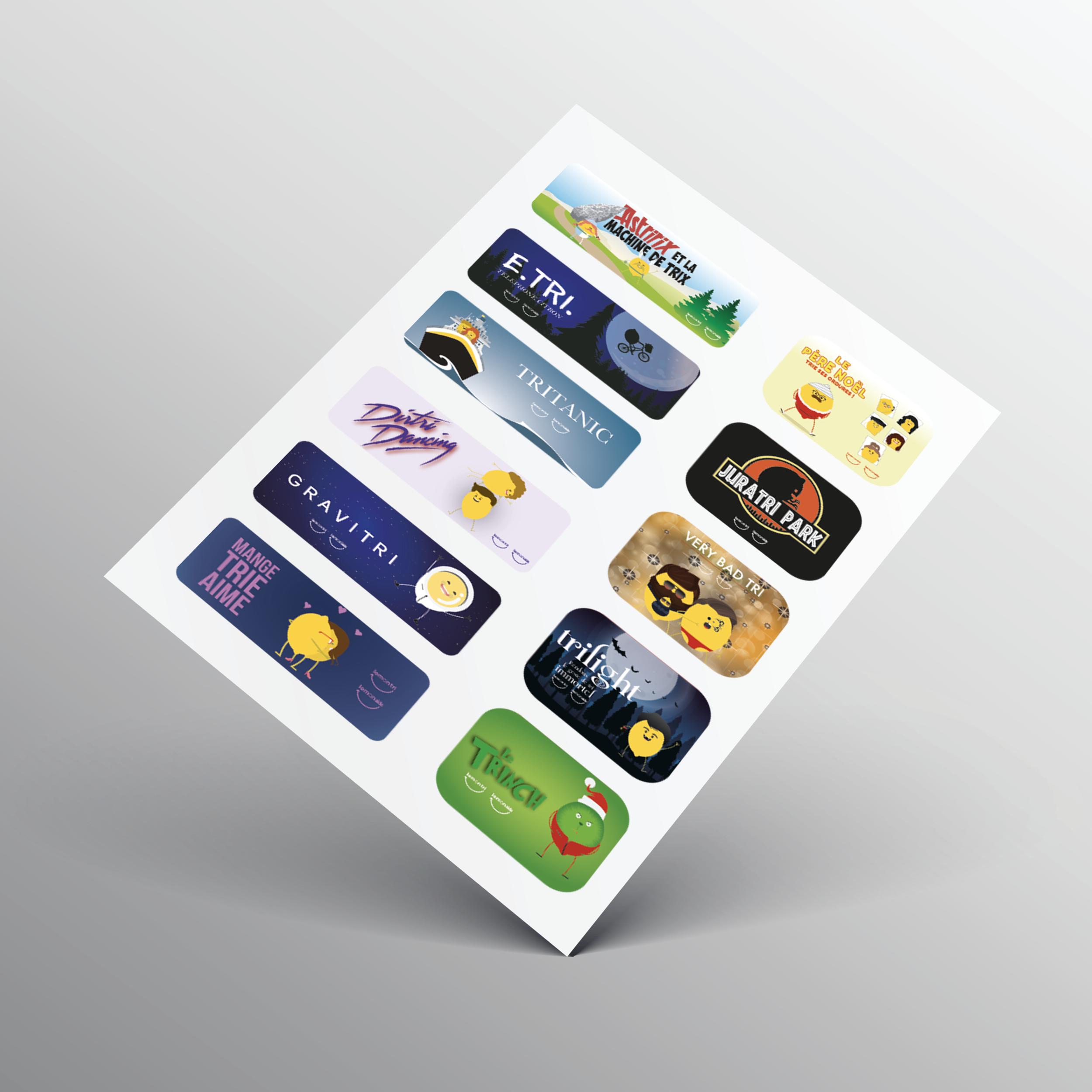 Stickers - Planche Cinéma