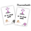 Carte à gratter personnalisable Communion fille