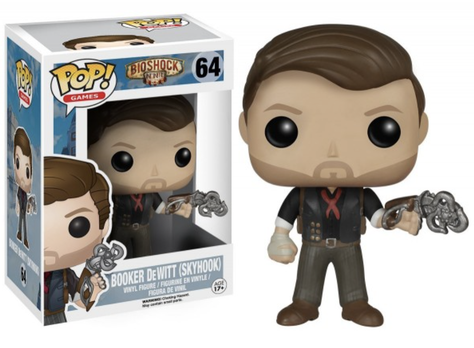 Bioshock Infinite - Bobble Head Funko Pop N° 64 : Booker DeWitt (Skyhook)