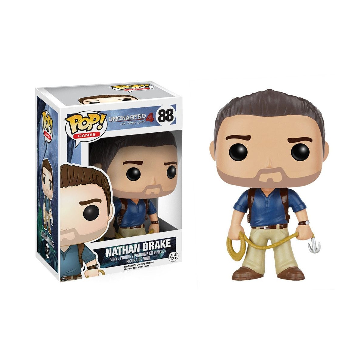 Uncharted 4 A Thief\'s End - Bobble Head Funko Pop N° 88 : Nathan Drake