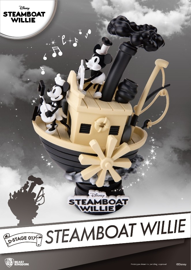 Disney - D-Select : Figurine Diorama Mickey Mouse Steamboat Willie