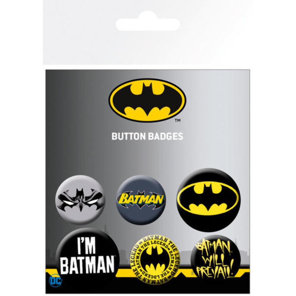 DC Comics - Batman : Lot de 5 badges