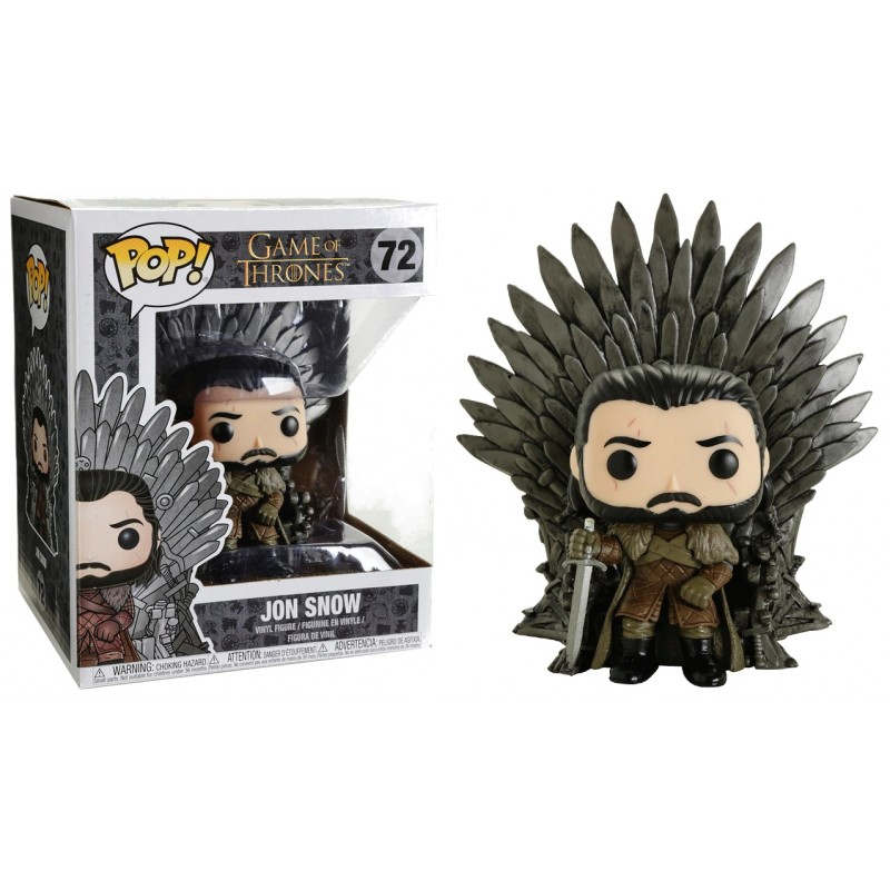 Game of Thrones - Bobble Head Funko Pop N° 72 : Jon Snow Sitting on Iron Thrones Oversize