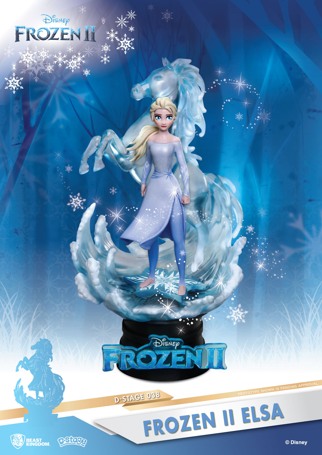 Disney - D-Select : Figurine Diorama Elsa Frozen II - La reine des neiges 2