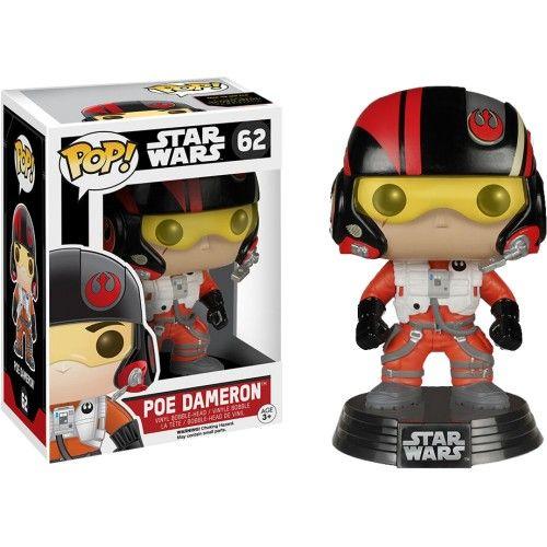 Star Wars - Bobble Head Funko Pop N° 62 : Poe Dameron (BOITE ENDOMAGÉE)