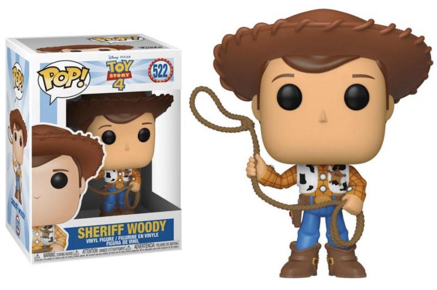 Toy Story 4 - Bobble Head Funko Pop N° 522 : Sheriff Woody