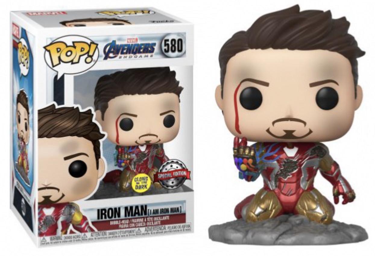 Marvel - Funko Pop  Avengers Endgame N°580 : Iron man I am Iron Man