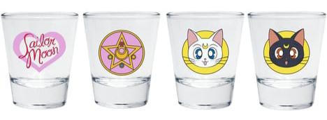Sailor Moon - Lot de 4 verres à Shooters