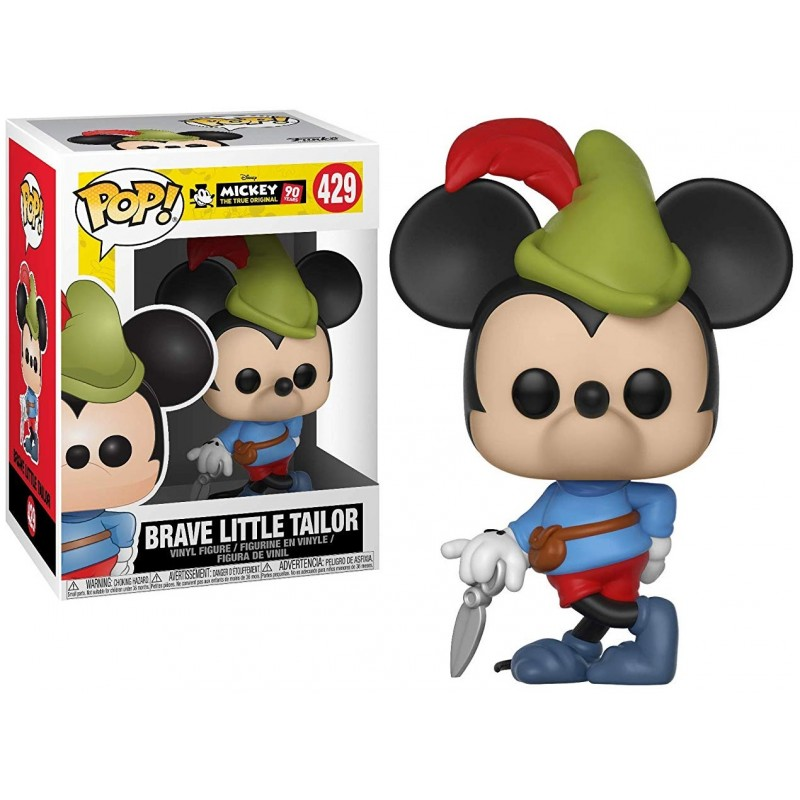 Mickey 90 years - Bobble Head Funko Pop N° 429 : Brave Little Tailor
