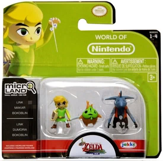 Nintendo - The Legend of Zelda : Wind Waker Micro Figure Set: Link, Makar and Bokoblin