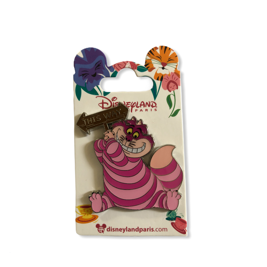Disney - Alice au pays des merveilles : Pin\'s Cheshire Cat This way OE