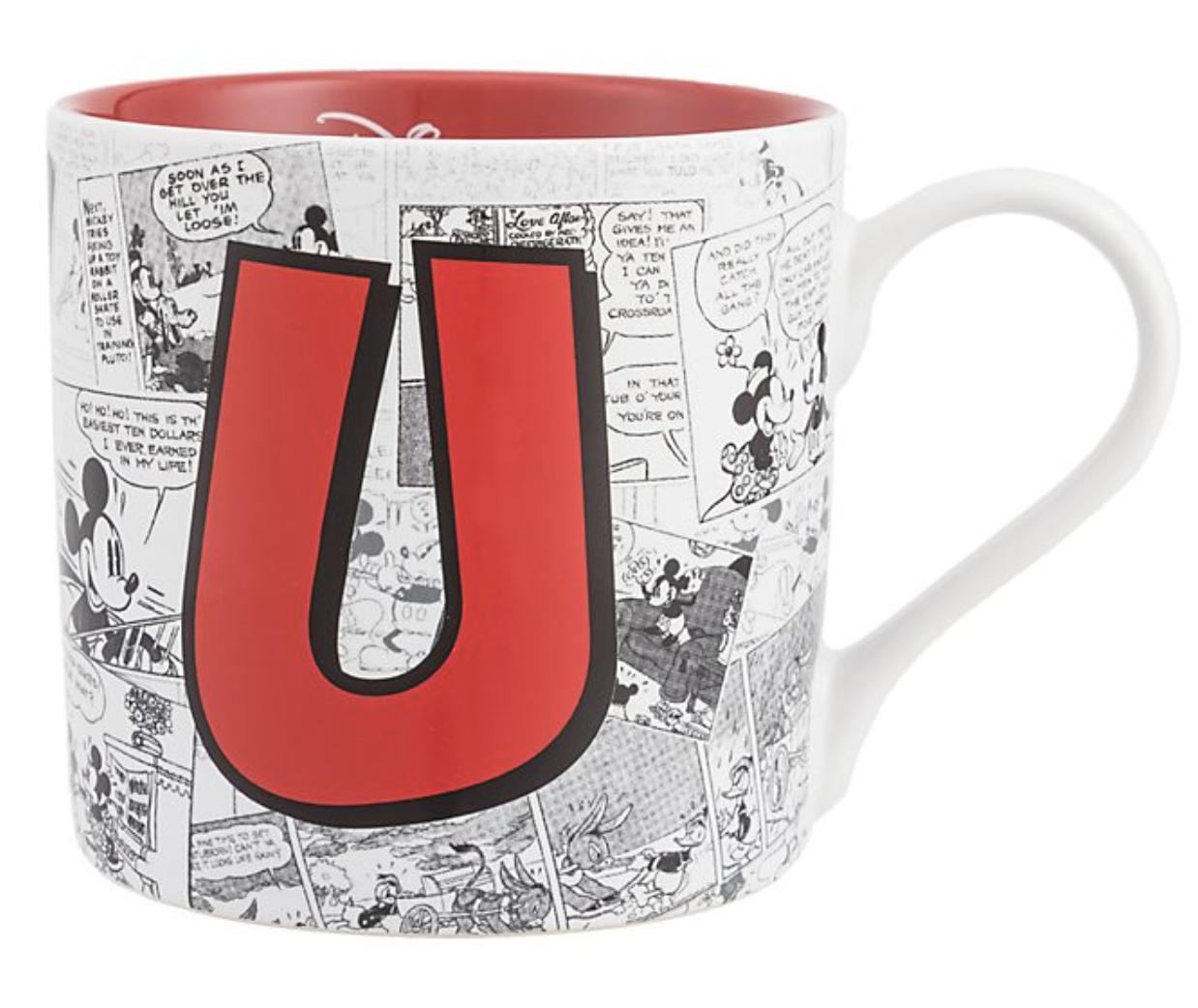 Disney - Mickey Mouse : Mug lettre U