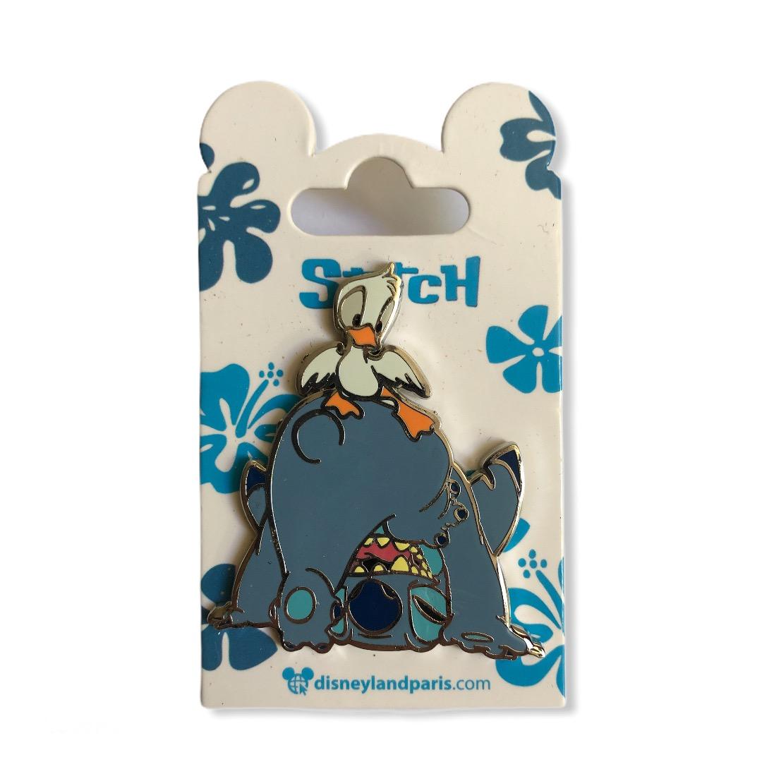Disney - LILO ET STITCH - Pin\'s Stitch et canard OE