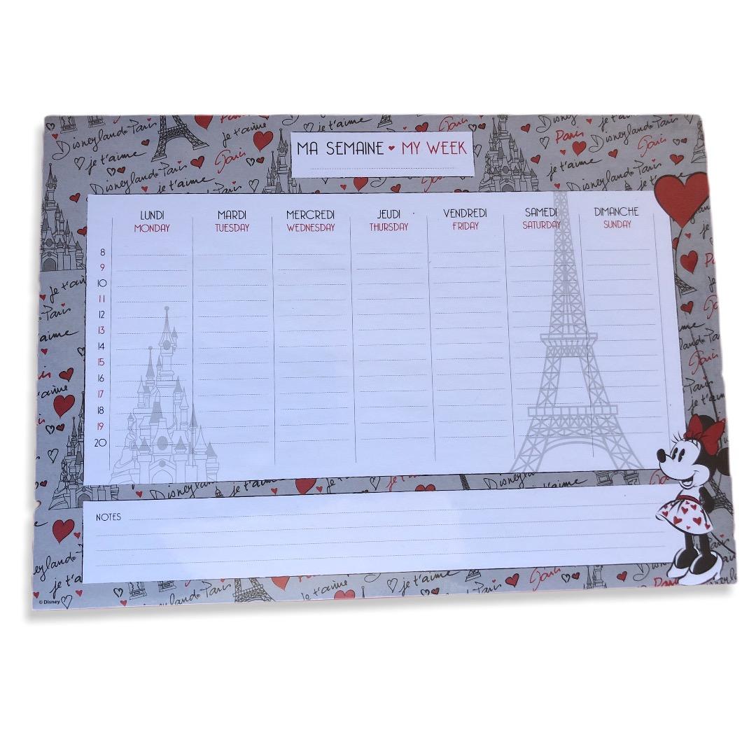Disney - Minnie Mouse : Organisateur, semainier