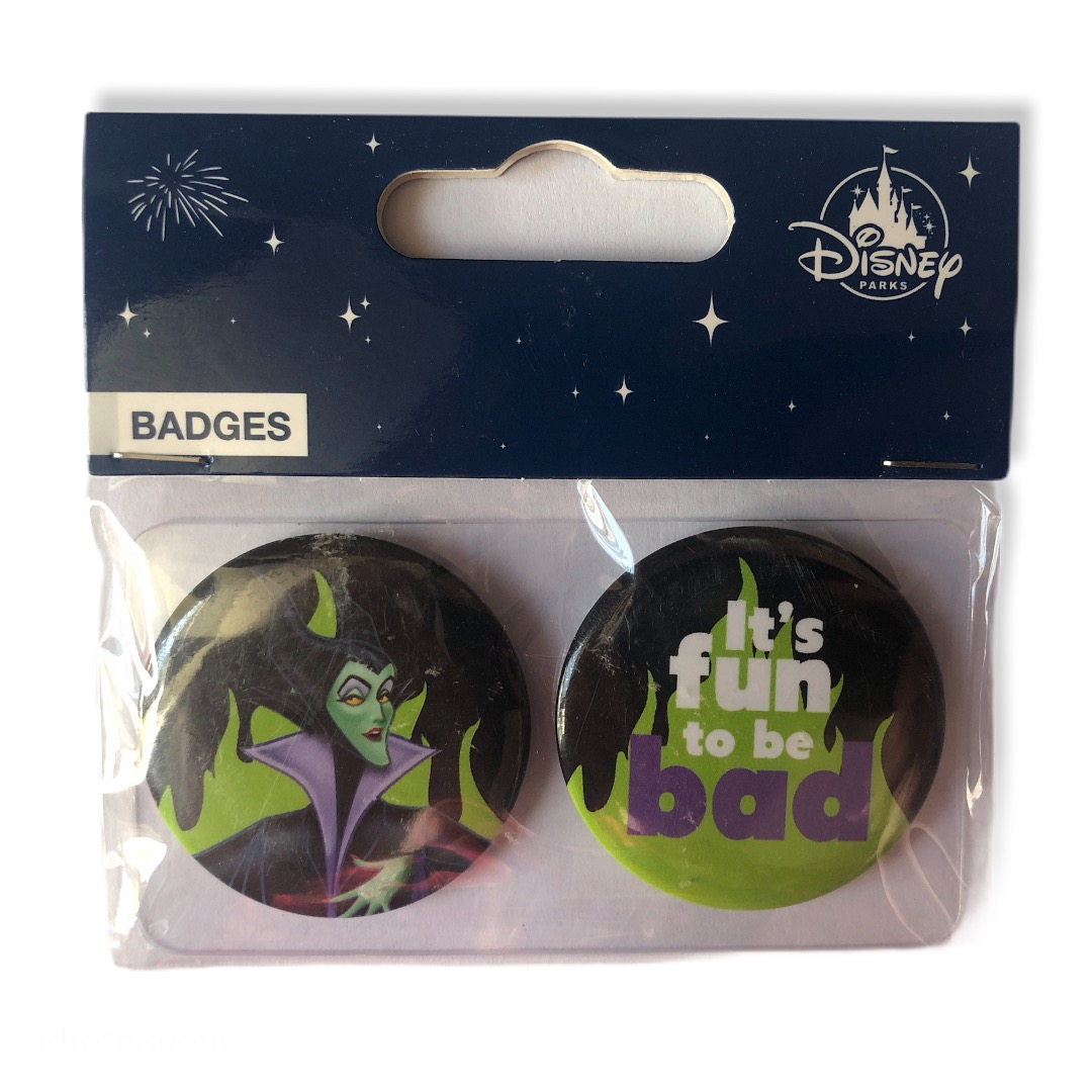 Disney - La Belle au bois dormant : Lot de 2 badges Villains