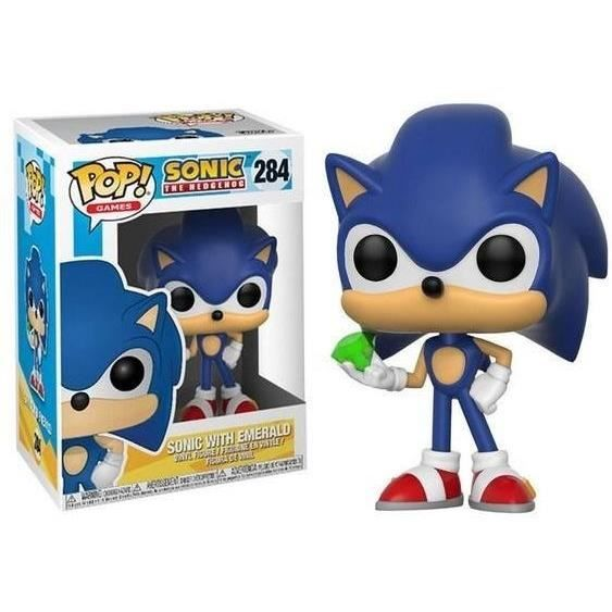 Sonic - Bobble Head Funko Pop N°284 : Sonic with emerald
