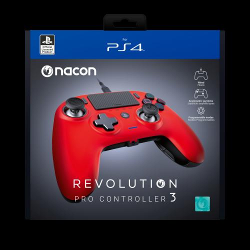 Nacon Revolution Pro 3 - Officiel controller PS4 : Red