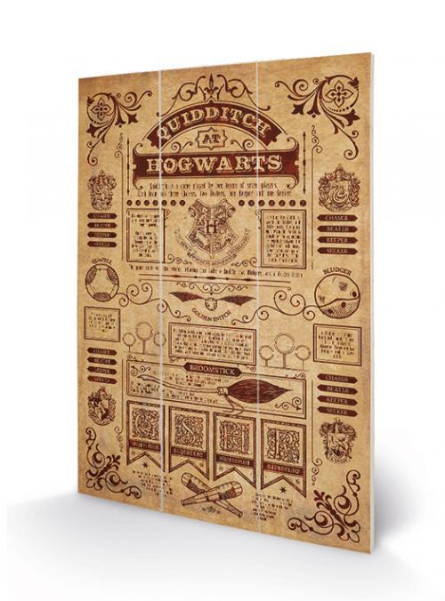 Harry Potter - Quidditch at Hogwarts - Impressions sur bois