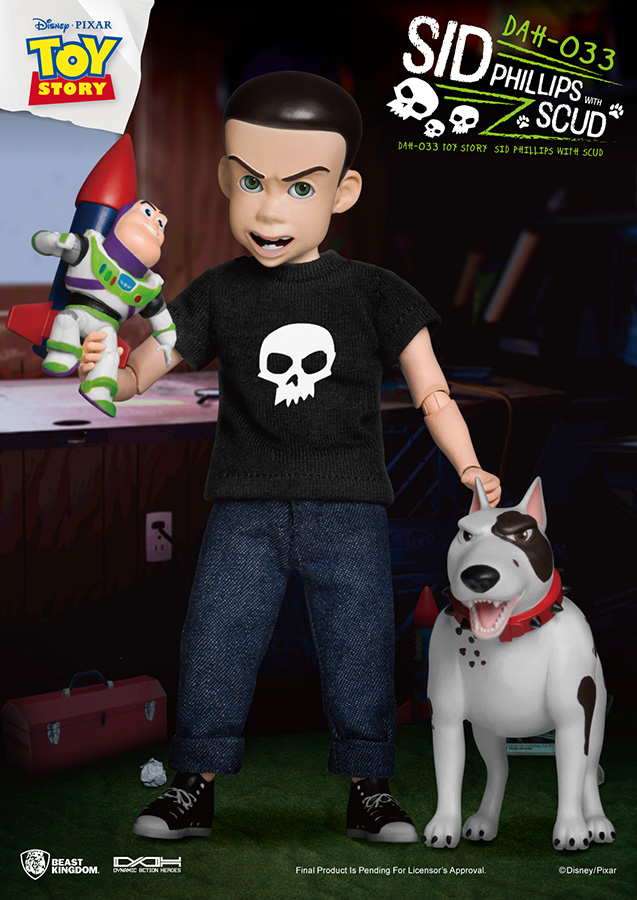 Pré-commande! Disney - D-Stage : Figurine Sid Phillips with Scud Toy Story