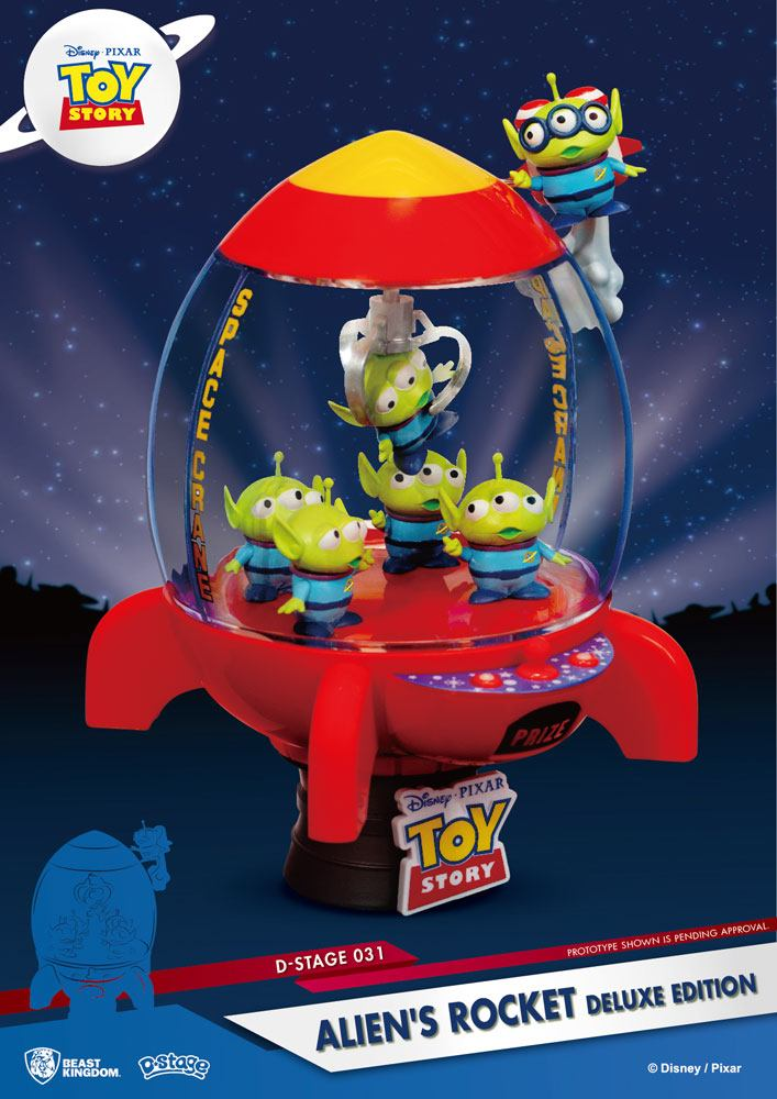 Pixar - D-Stage : Figurine Alien Rocket Toy Story Deluxe Edition