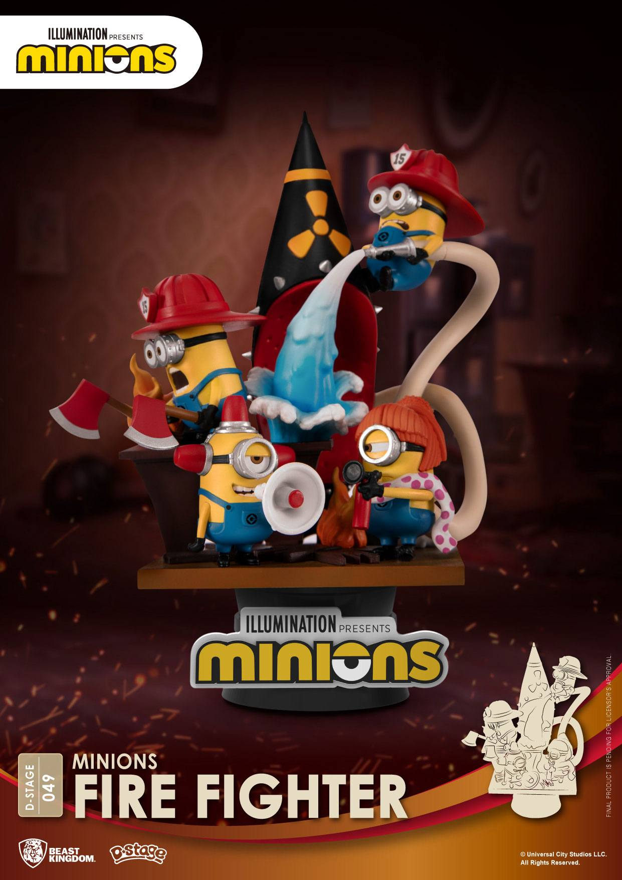 Minions - D-Stage : Figurine Fire Fighter Minions