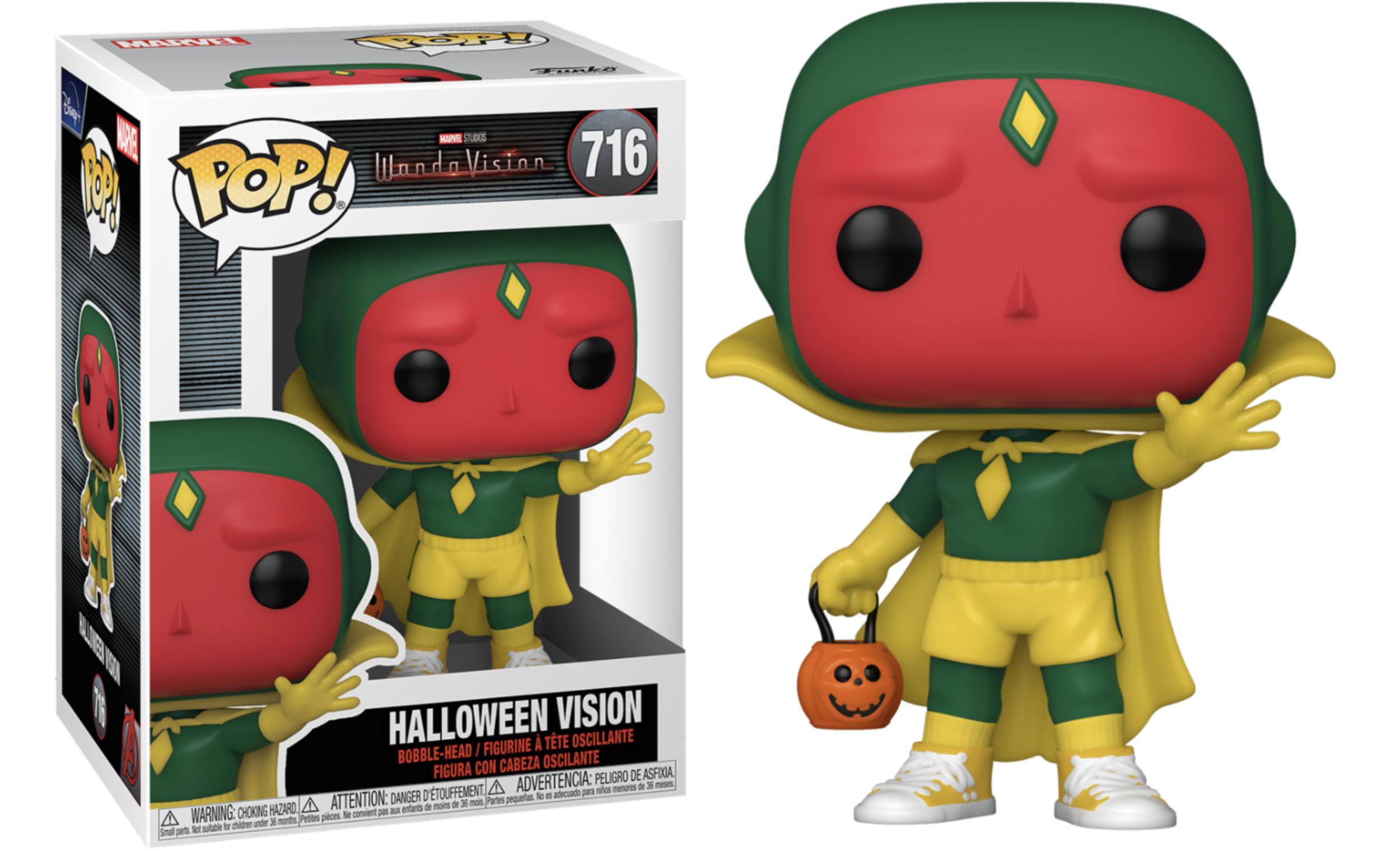 WandaVision - Bobble Head Funko POP N°716 : Vision (Halloween)