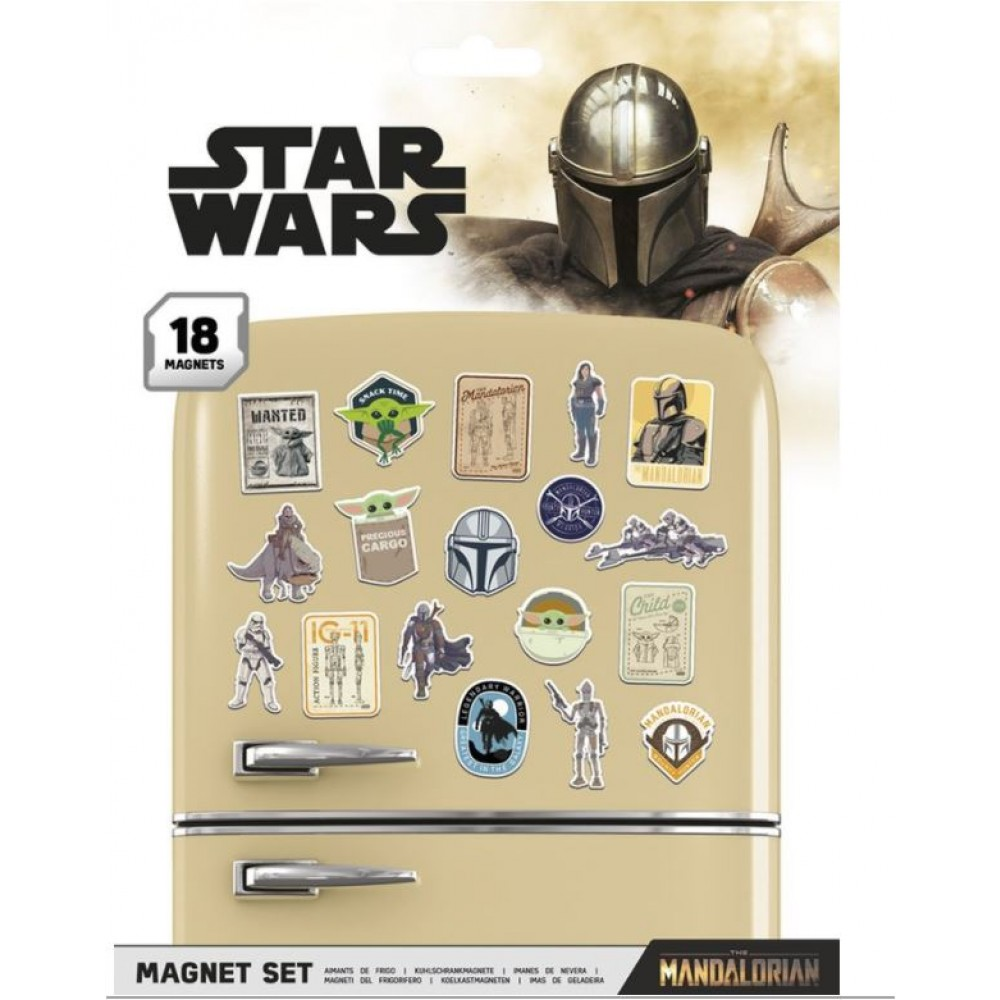 Star Wars - The Mandalorian : Set de 18 magnets