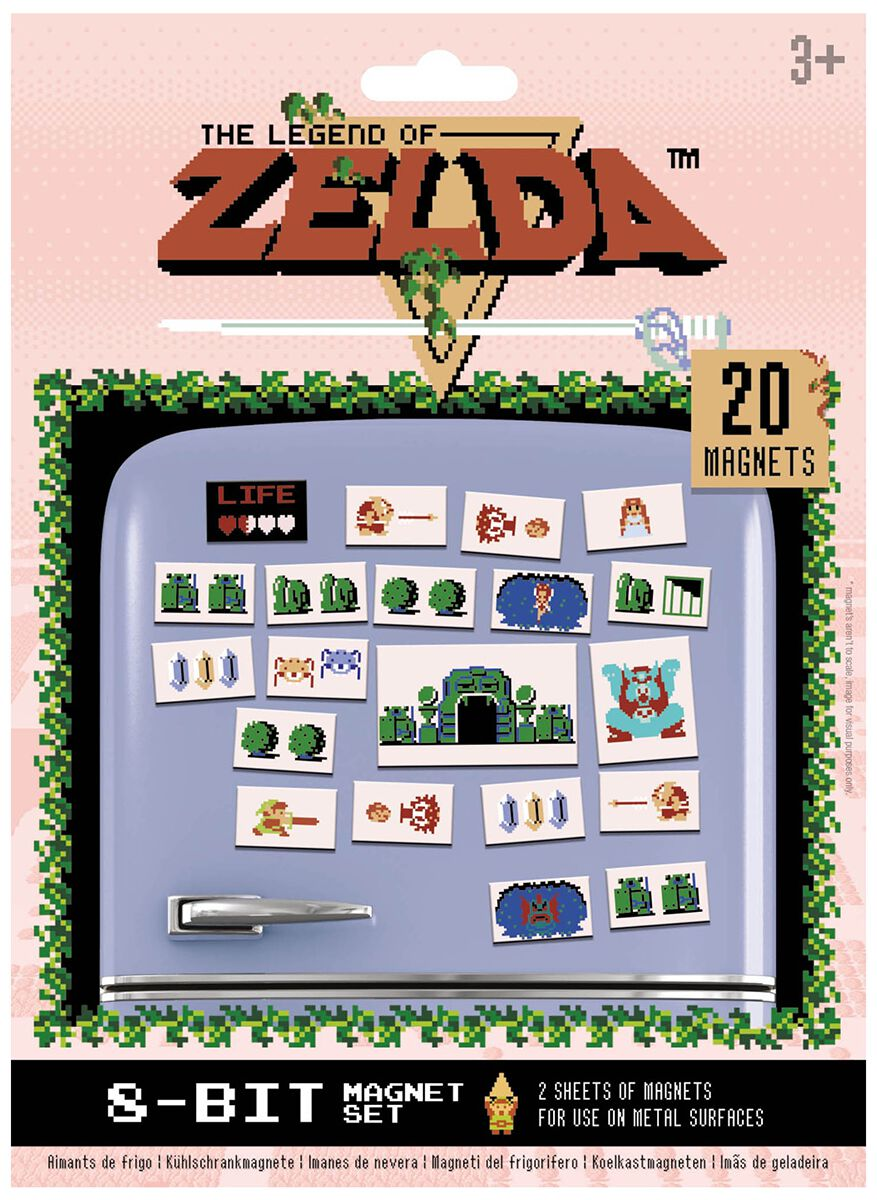 Nintendo - Zelda : Set de 20 magnets