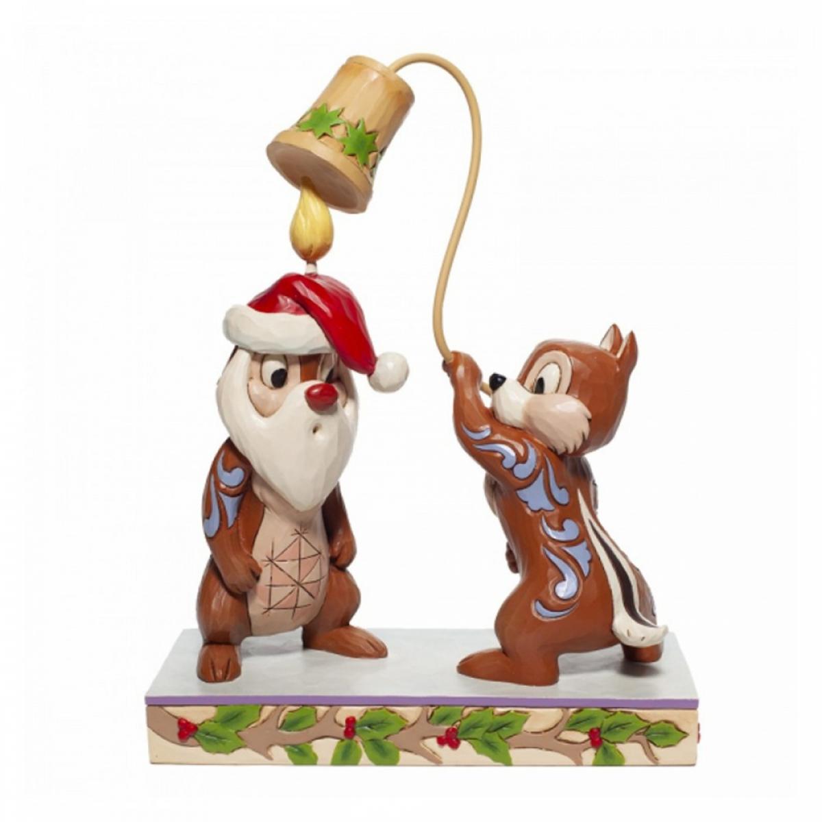 Pré-commande ! Disney Traditions - Mickey et ses amis : Figurine Christmas Chip\'n Dale