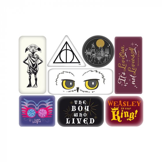 Warner Bros - Harry Potter : Set d\'aimants en epoxy