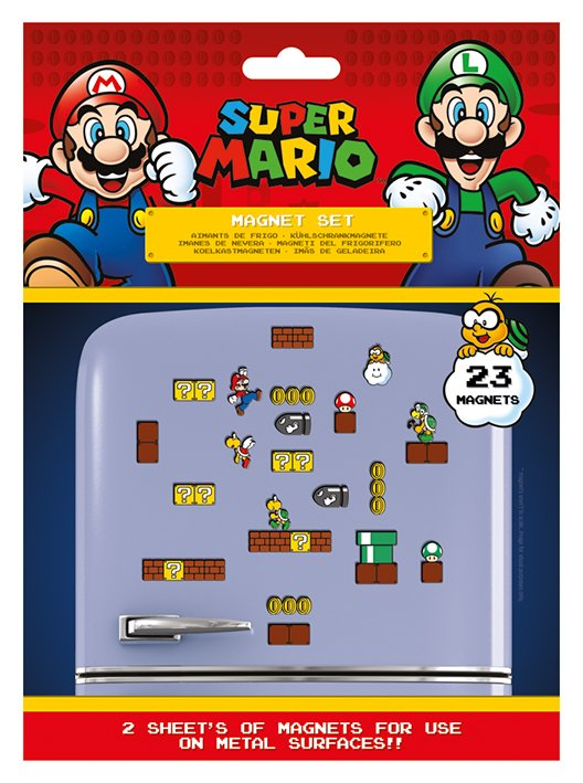 Nintendo : Super Mario : Set de 23 magnets