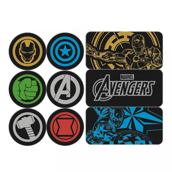 Marvel - Avengers : Set d\'aimants en epoxy