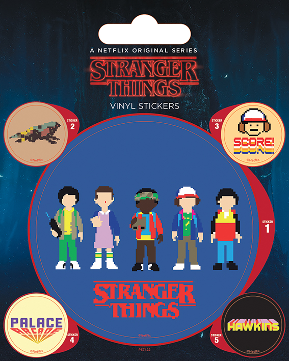 Netflix - Stranger Things : Pack de 5 stickers Arcade