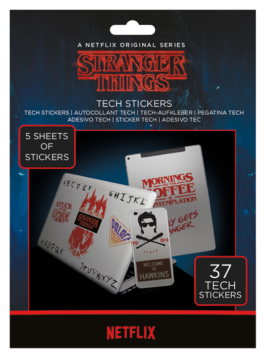 Netflix - Stranger Things : The Upside down Tech stickers