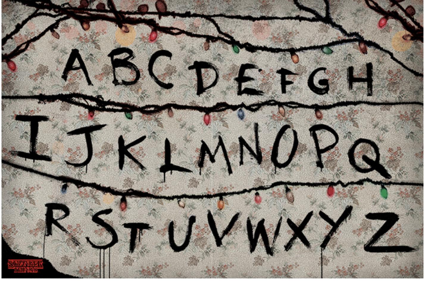 Netflix - Stranger Things - Poster lettres