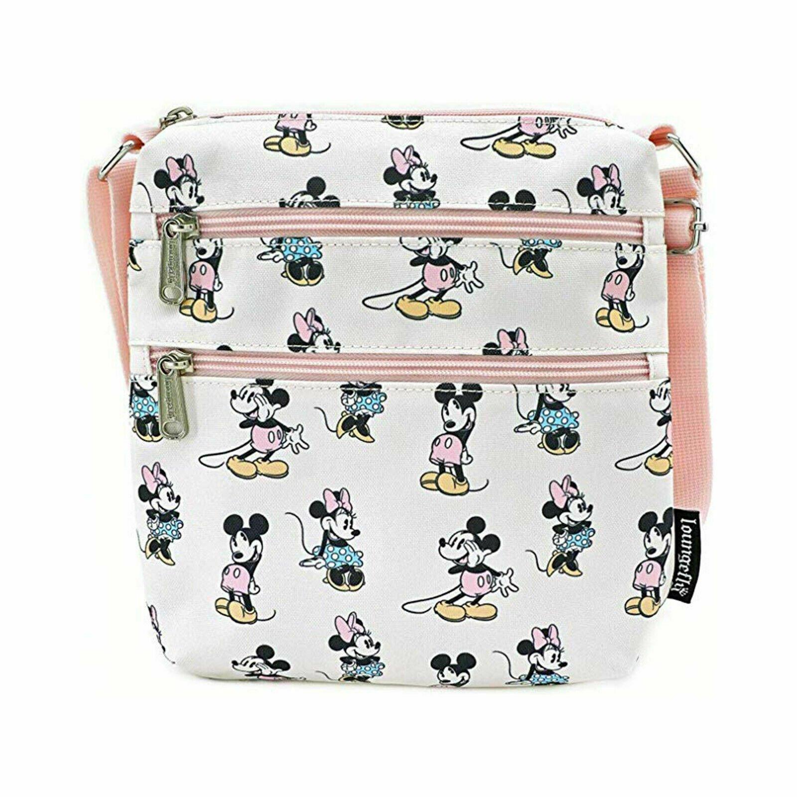 Disney - Loungefly : Sacoche Mickey & Minnie Pastel