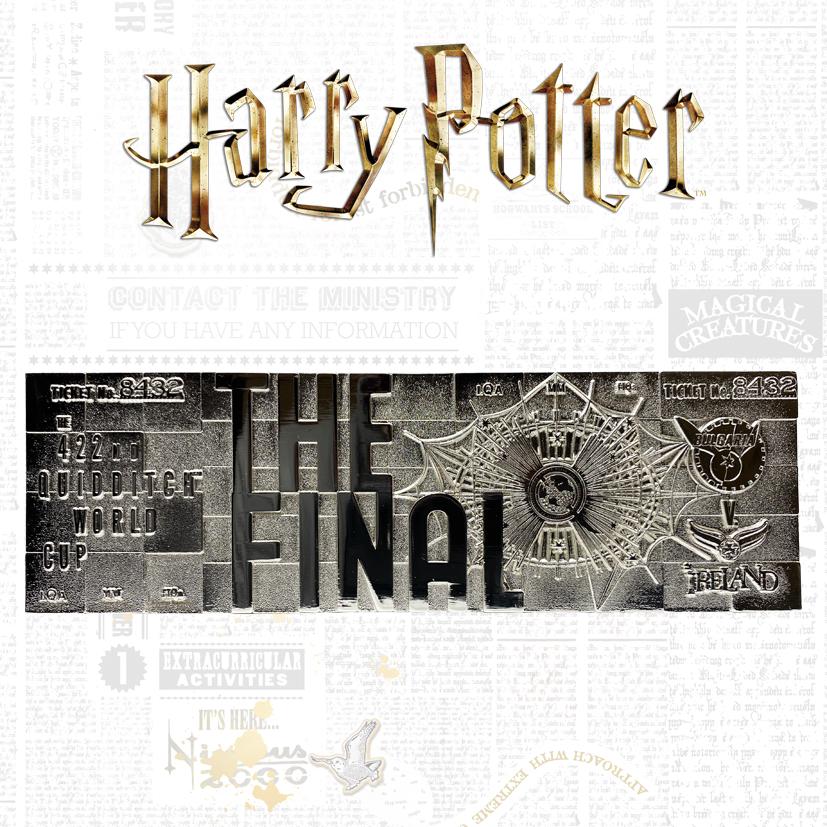 Warner Bros - Harry Potter : Ticket plaqué argent collector