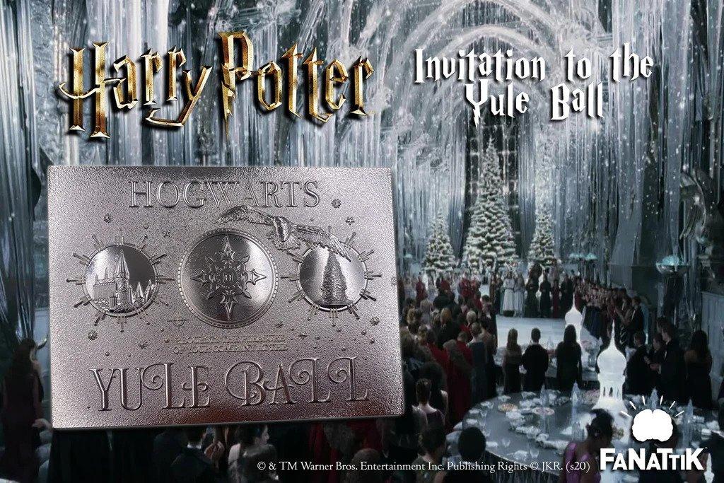 Harry Potter - Ticket plaqué argent : Invitation au bal de noël