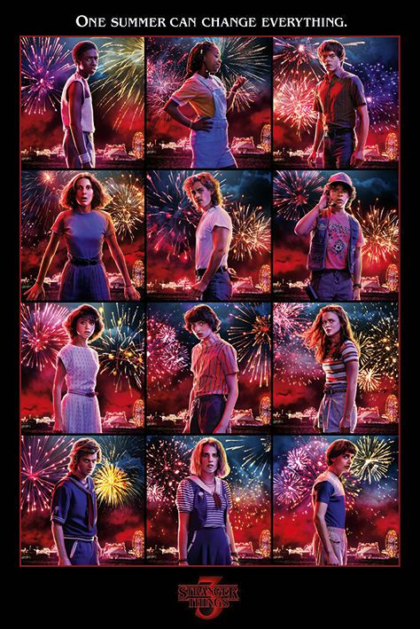 Netflix - Stranger Things - Poster Character montage