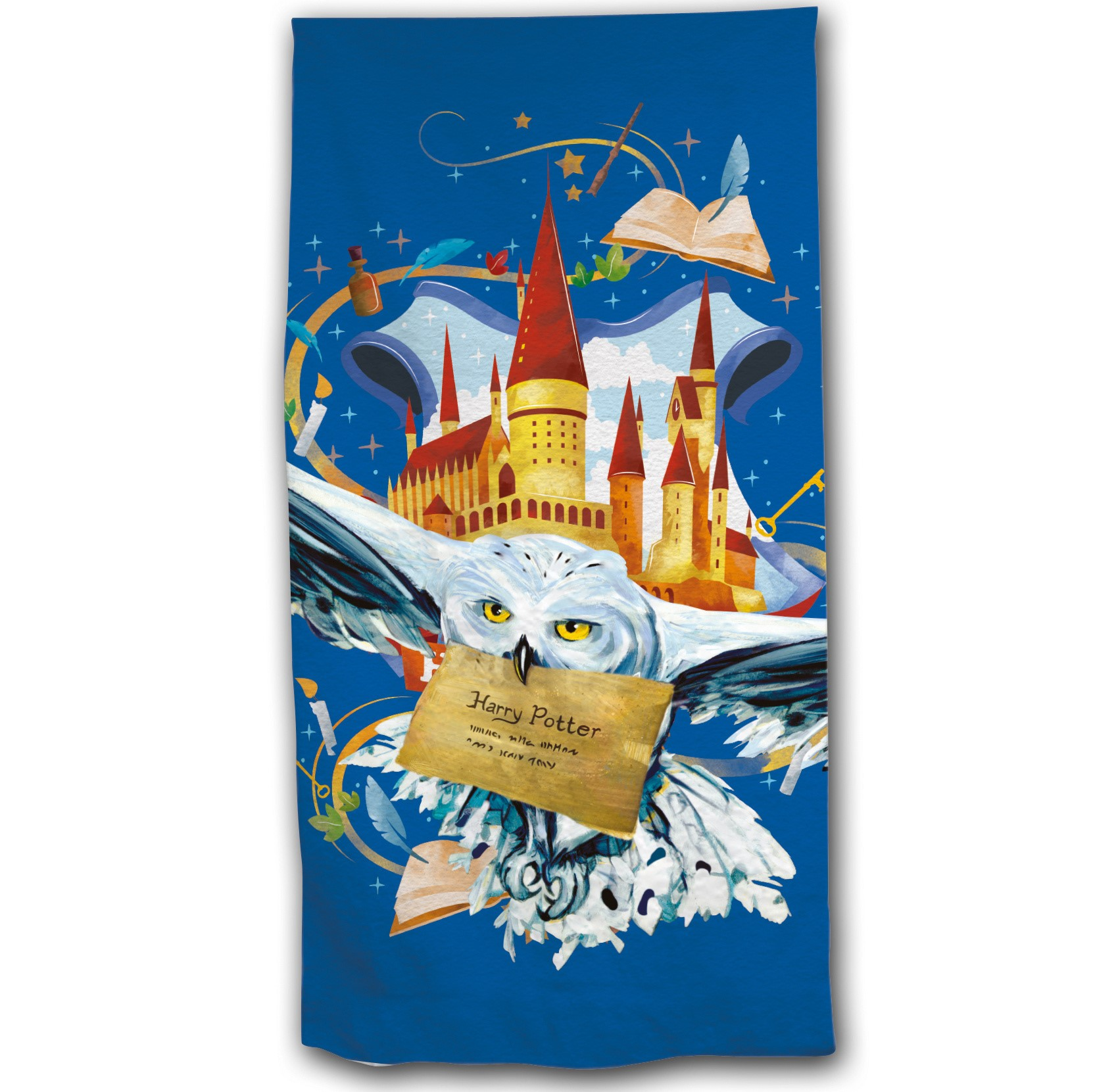 Warner Bros - Harry Potter : Serviette de plage Hedwige