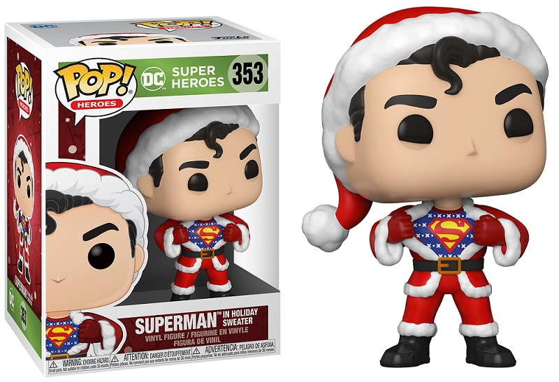 DC Comics - Bobble Head Funko Pop N°353 : Superman Holiday Sweater