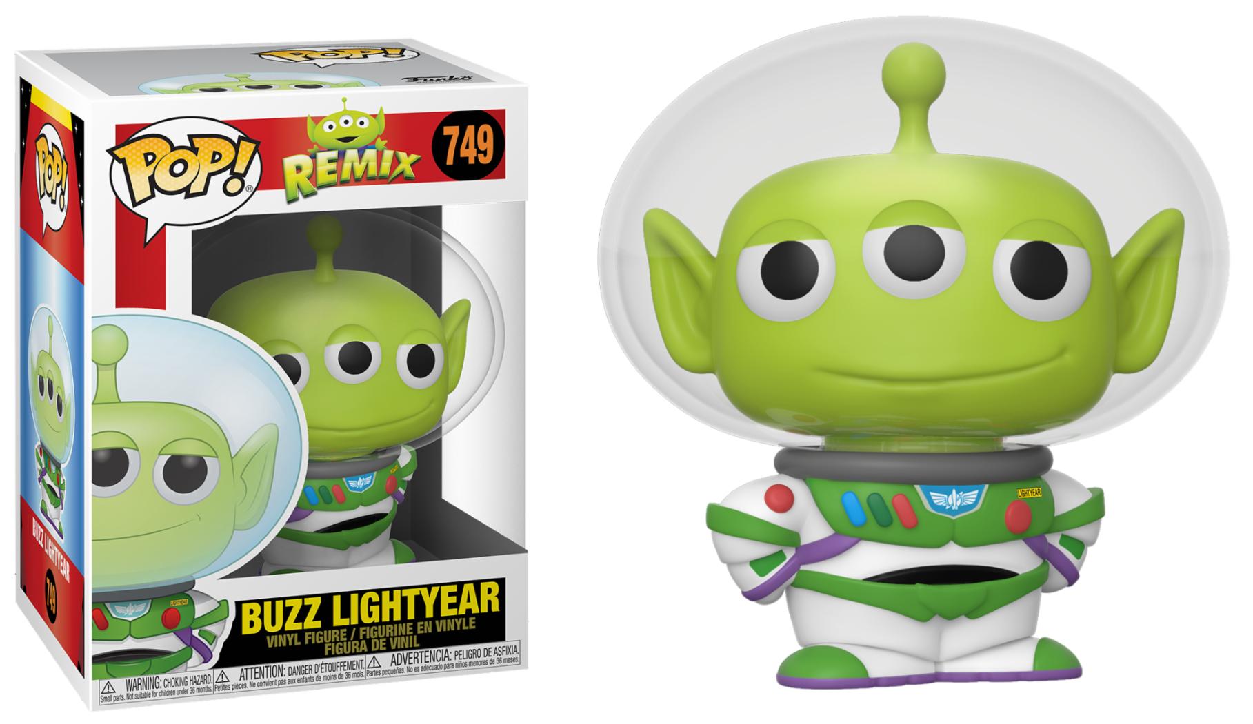 Pixar - Bobble Head Funko Pop N°749 : Alien Remix Buzz