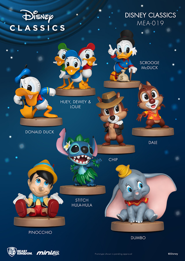 Pré-commande! Disney - Mini Ef-gg Attack : Pack de 8 figurines