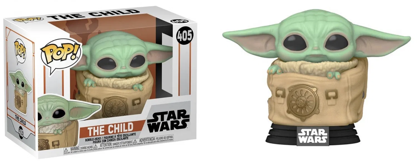 The Mandalorian - Bobble Head Funko Pop N°405 : The Child with Carrier